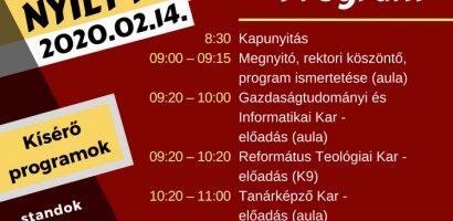 Február 14-én nyílt nap lesz a Selye János Egyetemen