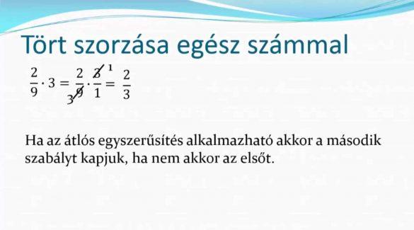 6. Osztály matematika