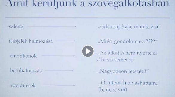 Magyar nyelv, irodalom – Hogyan lehet jó szöveget készíteni
