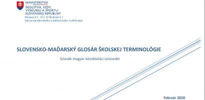 Szlovák–magyar közoktatási szószedet