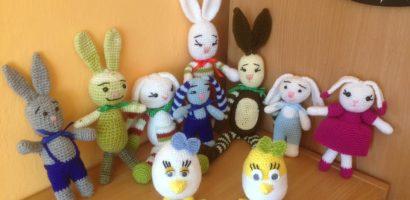 Horgolt húsvéti nyuszi