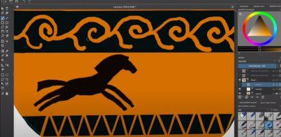 Krita – Görög váza digitálisan
