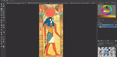 Krita – Hogyan rajzolj egyiptomi kifestőt