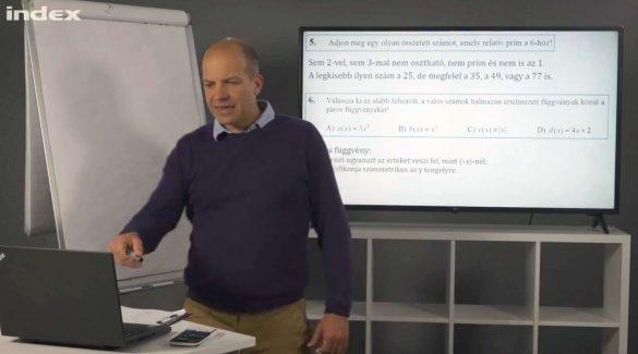 Matematika – Egy teljes középszintű érettségi feladatsor megoldása