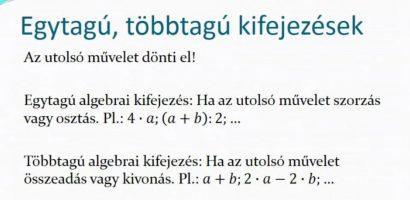 8. Osztály matematika