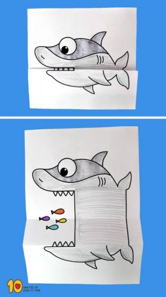 Surprise Folding Paper – Shark