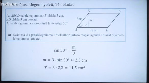 Matematika – A trigonometriai számítások háromszögekben