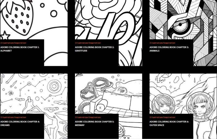 Adobe Coloring Book – a további kifestők