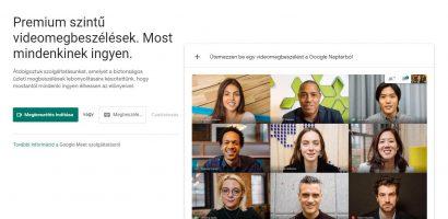 Bárki számára ingyen elérhető a Google Meet