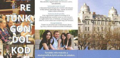 Újabb lehetőség, hogy Pozsonyban tanulhass!