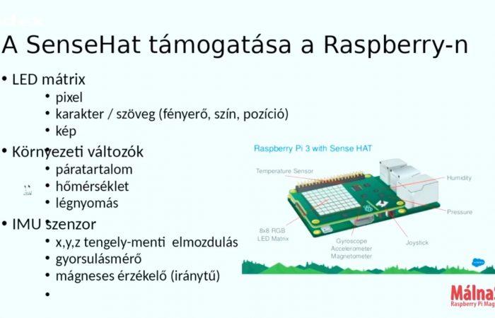 Informatika – Szenzorokat aggatunk a Raspberryre