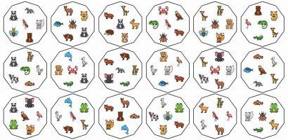 Szókincsfejlesztés saját készítésű Dobble játékkal