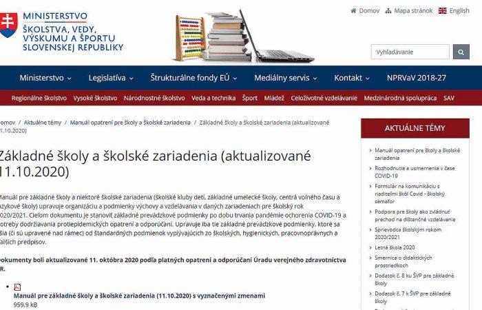 Frissített intézkedési kézikönyv az iskolák és az iskolai létesítmények számára