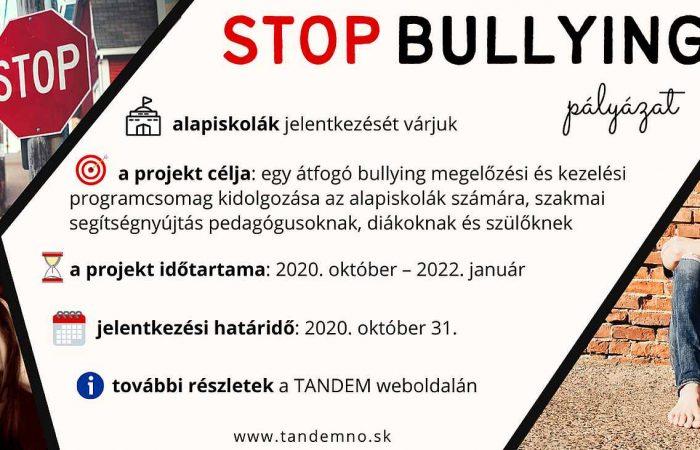 STOP BULLYING pályázat