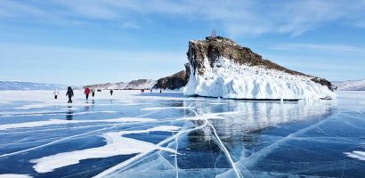 A Bajkál-tó rejtélyes jégkörei