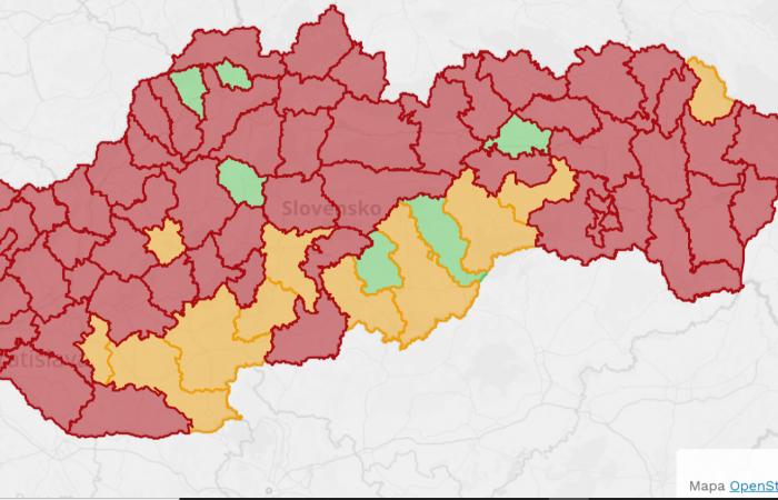 Már 62 járás vörös zónában, narancsszigetek délen