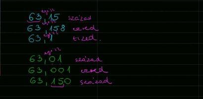 Matematika: Tizedestörtek írásban és szóban