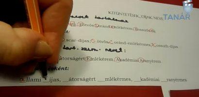 6. Osztály nyelvtan – A tulajdonnevek helyesírása
