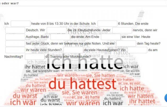 Német nyelv – Hatte oder war?
