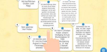 Német nyelv – Sommerarbeit Brief
