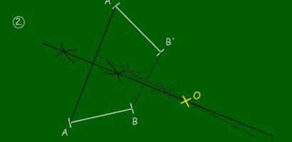 MATEK 9. osztály – Forgatási középpont meghatározása