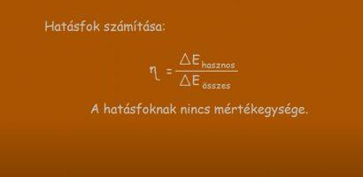 FIZIKA 7. osztály – Hatásfok számítása
