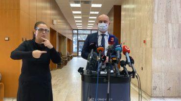 Branislav Gröhling (SaS) oktatásügyi miniszter sajtótájékoztatója