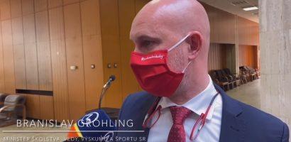 Branislav Gröhling oktatásügyi miniszter sajtótájékoztatója