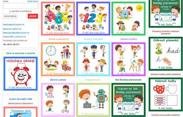 Szlovák oktatási portálok a weben