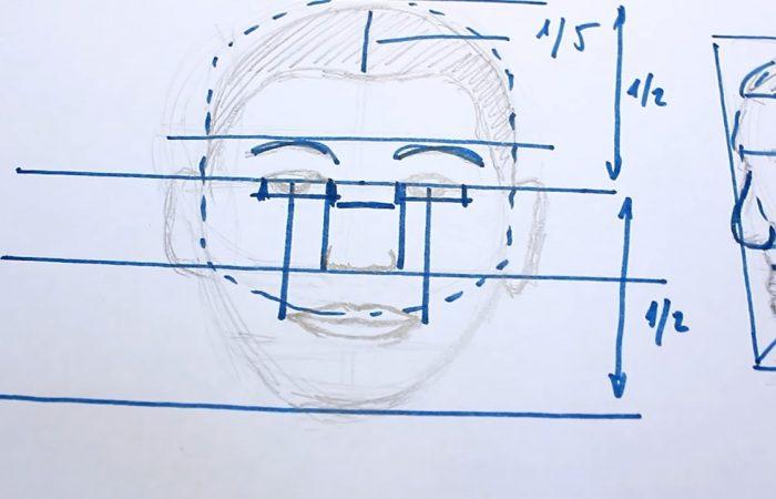 Rajz – Hogyan rajzolj portrét? A fej arányai