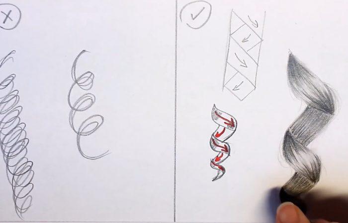 Rajz – hogyan rajzoljunk göndör hajat