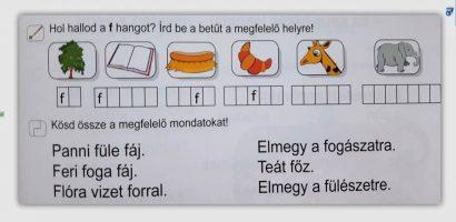 Távtanítás – A nyomtatott betűk: F, f