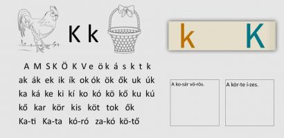 Távtanítás – A nyomtatott betűk: K, k
