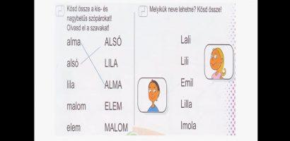 Távtanítás – A nyomtatott betűk: L, l