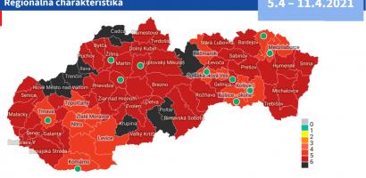 Járási járványtérkép: délen javul a helyzet, de a húsvét is fekete