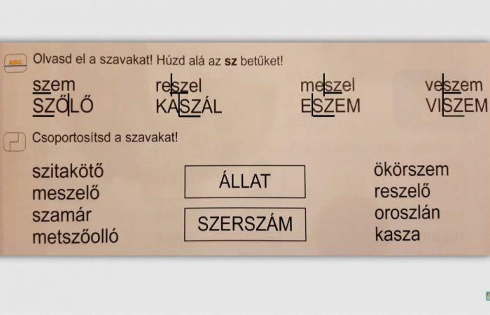 Távtanítás – A nyomtatott betűk: Sz, sz