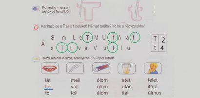 Távtanítás – A nyomtatott betűk: T, t