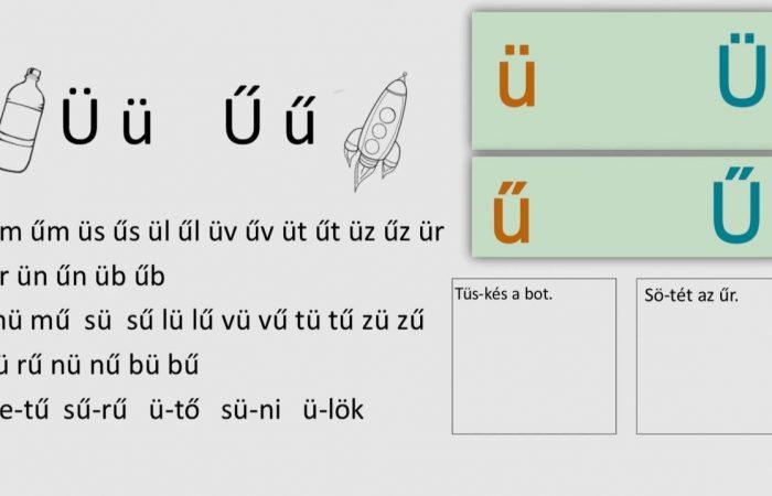 Távtanítás – A nyomtatott betűk: Ü, ü, Ű, ű