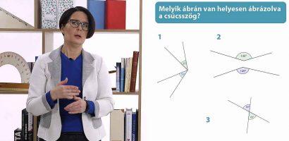 Matematika 6. o. – Csúcsszögek és mellékszögek, szögműveletek