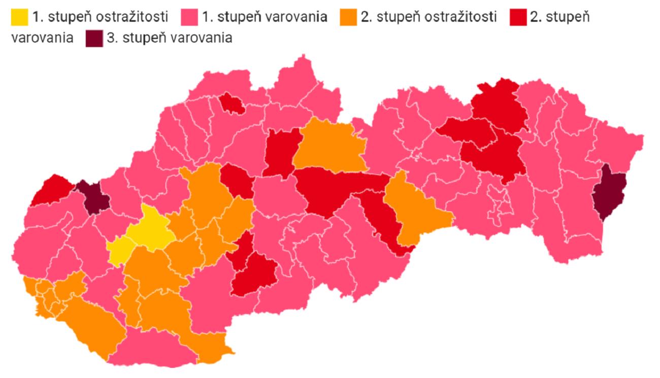narancssárgába (Forrás: gov.sk)