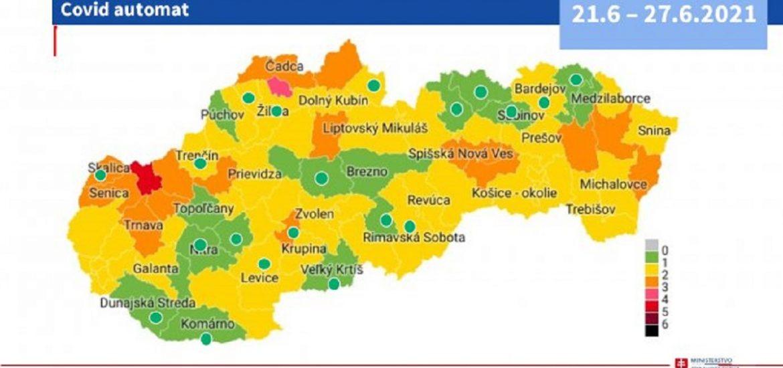 Dunaszerdahely és Komárom is a zöld járások között