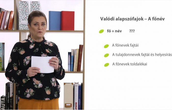 Magyar nyelv – A szófajok
