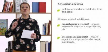Magyar nyelv – A névmások (a visszaható, a birtokos és a kölcsönös névmások)