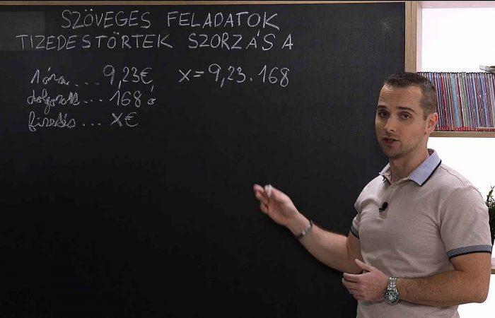 Matematika 6. o. – Szöveges feladatok – a tizedestörtek szorzása