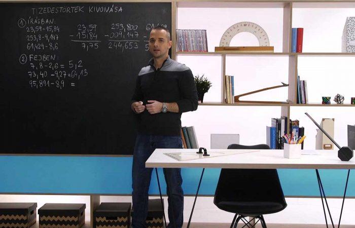 Matematika 6. o. – Tizedestörtek kivonása