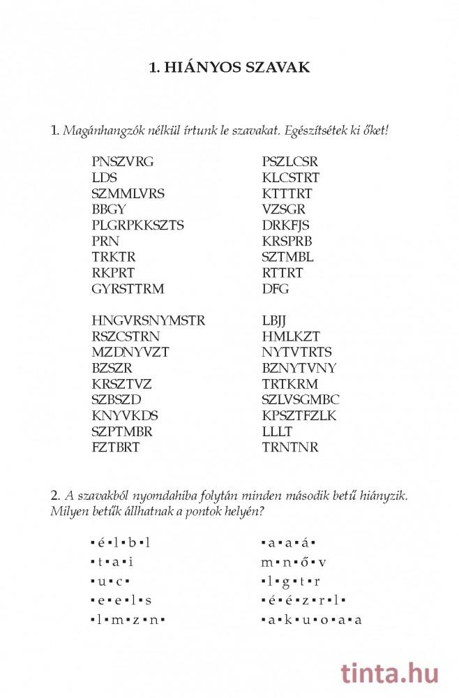Magyar nyelvi játékok, fejtörők