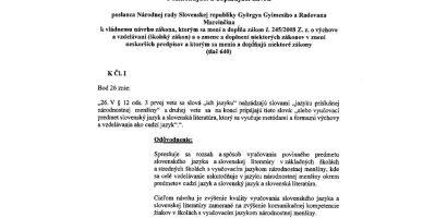 Jövőre már idegen nyelvként oktathatják a szlovákot