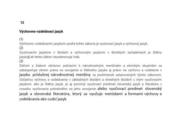 """""""Kötelezően"""" idegen nyelvként kell oktatni a szlovák nyelvet?"""